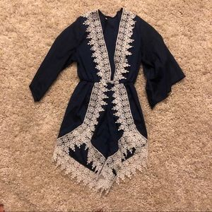 Other - Navy, lace romper